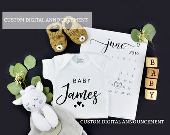 CustomDigital Pregnancy Reveal for Social Media