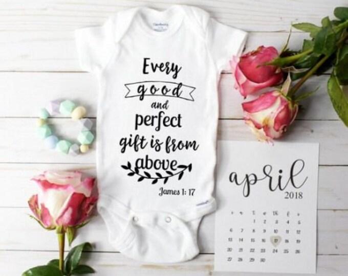 Bible Verse Onesie / Baby Announcement ideas