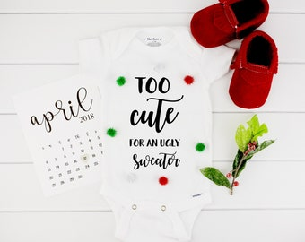Baby Ugly Christmas Sweater Onesie /  Ugly sweater onesie / Christmas