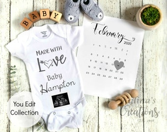February 2020 Pregnancy Template - Instant Download