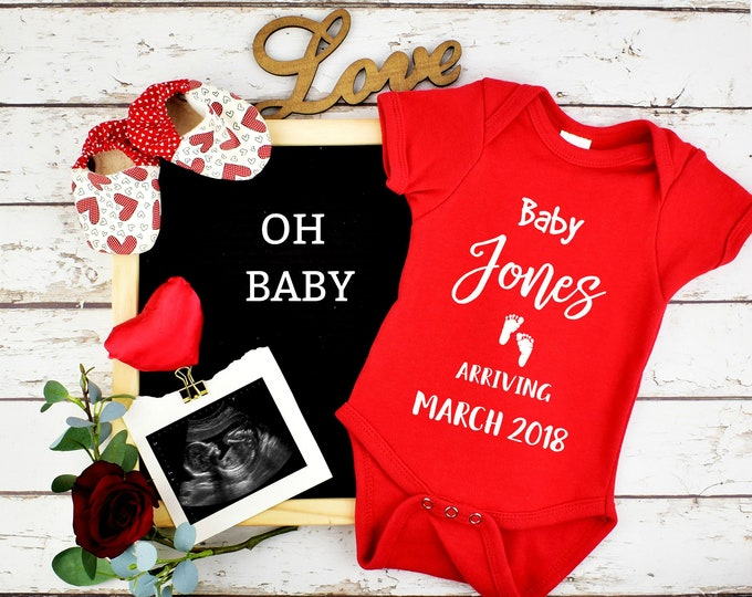 Featured listing image: Valentines Custom Pregnancy Announcement for Social Media