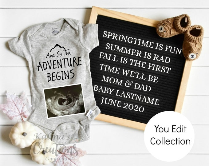 Fall Spring Pregnancy Announcement for Social Media Announce
