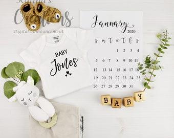 Pregnancy Announcement for Social Media Announce