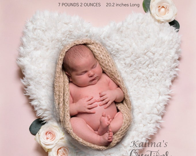 Birth Announcement Card - Photo Announcement Printable