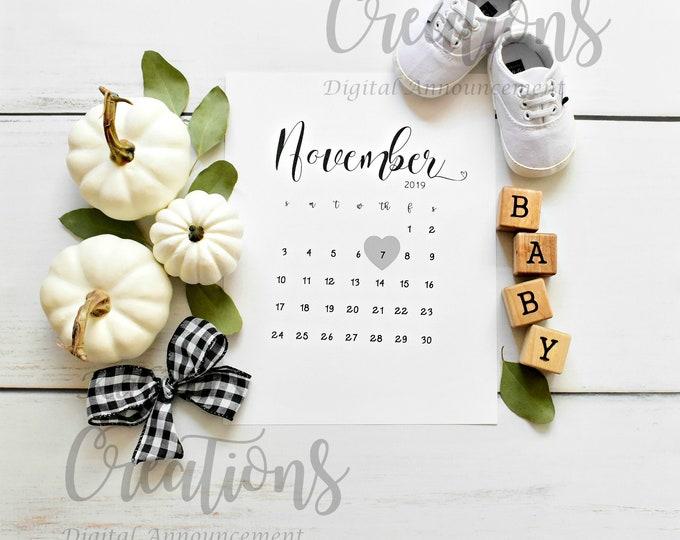 Pregnancy Announcement Pumpkin  for Social Media Announce