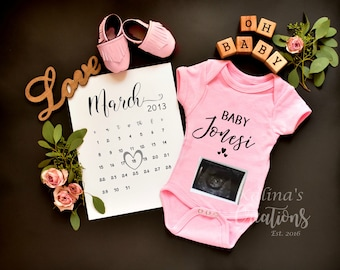 Personalize Girl Gender Reveal -for Social Media Announce