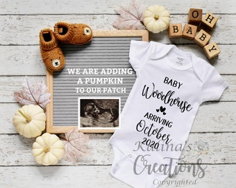 Thanksgiving Pregnancy Announcement for Social Media Announce