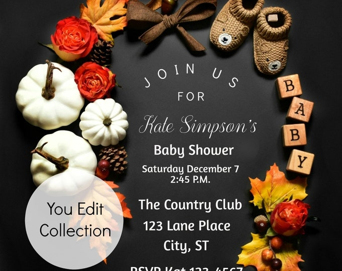 Thanksgiving Baby Shower Invitation Printable