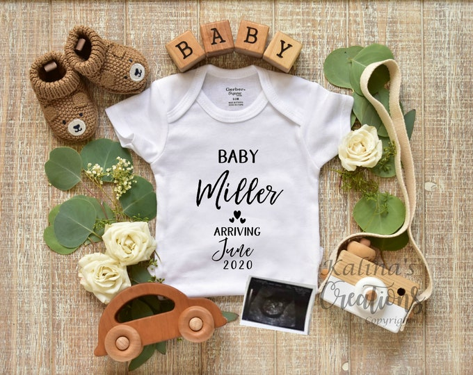Personalized Pregnancy Announcement - Boy Gender Reveal for Social Media Announce