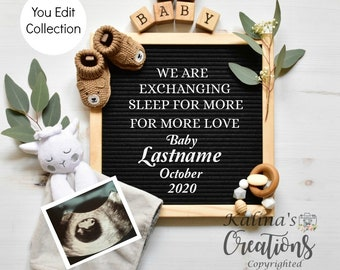 Template Personalized Pregnancy Announcement -Social Media Announce