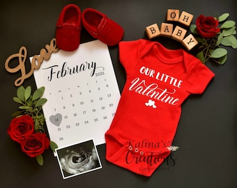 Valentines Personalized Pregnancy Announcement Template