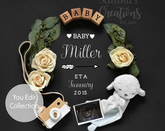 Pregnancy Template Gender Neutral Baby Announcement