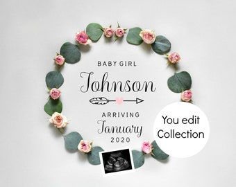 Pregnancy Announcement - Gender reveal Social Media Announce