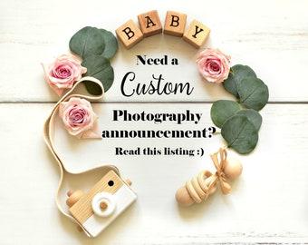 Custom Pregnancy Announcement for Social Media