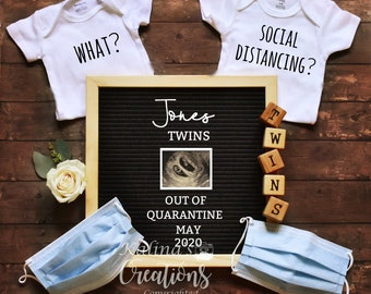 Quarantine Pregnancy Twins Announcement