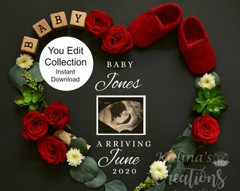 Template Valentines Pregnancy Announcement for Social Media Announce
