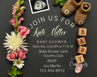 Girl Baby Shower Invite - Pink