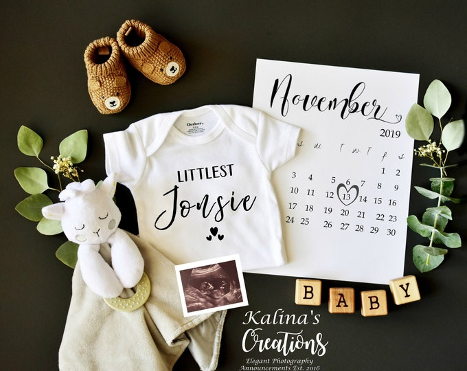 Featured listing image: Custom digital pregnancy reveal for social media - gender neutral
