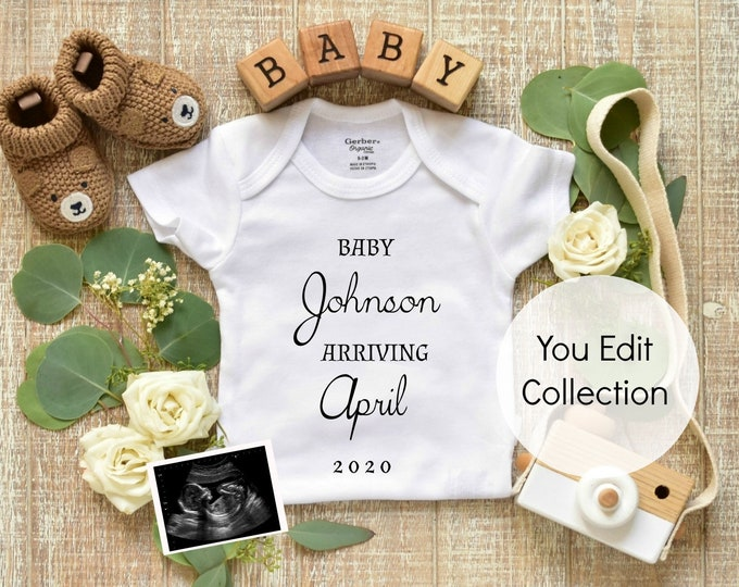 Personalized Pregnancy Announcement -Social Media Announce