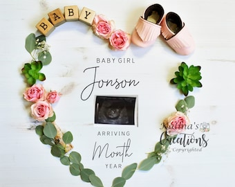 Valentines Girl Gender Reveal For Social Media Announce