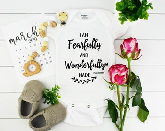 Bible Verse Onesie / Baby Announcement Bodysuit / Pregnancy reveal idea