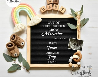 Template Rainbow Pregnancy Announcement for Social Media