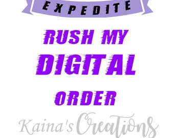 Rush my order - Yayyy I am first in line :)