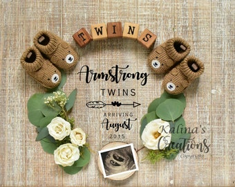 Twins Pregnancy Announcement - Social Media Announce