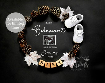 Thanksgiving Pregnancy Announcement for Social Media Announce