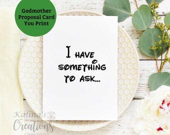 Godmother Proposal Printable Card