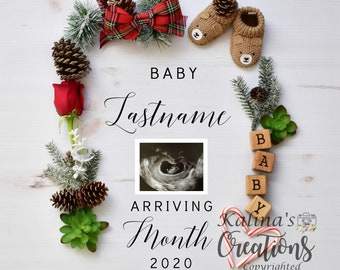 Reserved Custom Christmas Pregnancy Announcement for Social Media Announce