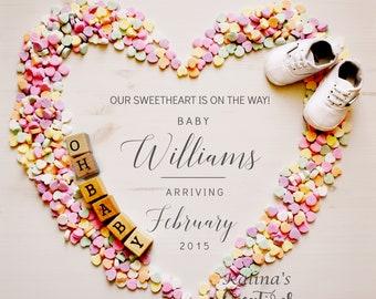 Valentines Pregnancy Announcement for Social Media