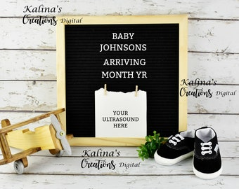 Aviator Digital Letter Board Pregnancy Reveal