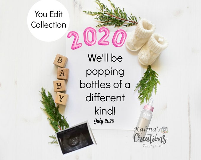 New Year 2020 Pregnancy Announcement - Social Media Announce