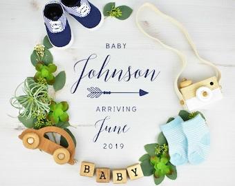 Baby Boy Gender Reveal for Social Media Announce