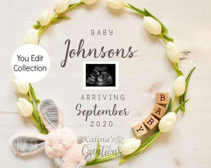 Easter Pregnancy Announcement Social Media Announce