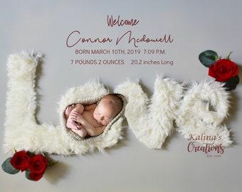 BirthAnnouncement - Newborn Printable Photograph