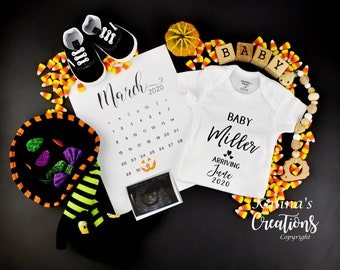 Halloween Twin Baby Announcement for Social Media