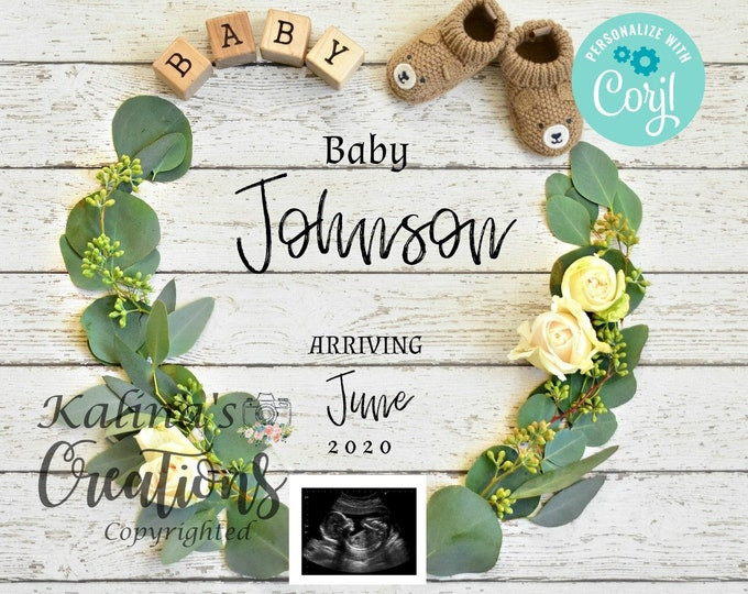 Valentines Pregnancy Announcement Template for Social Media Announce