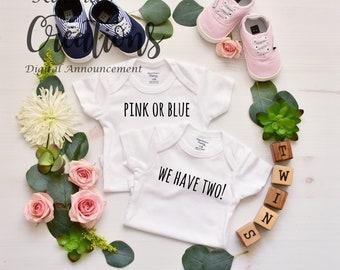 Twins Pregnancy Announcement - Social Media