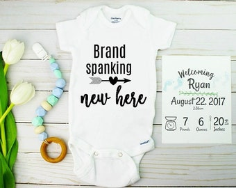 Baby Birth Announcements Onesie and Card