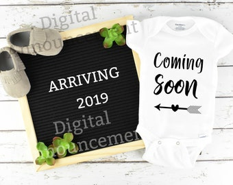 Digital Pregnancy Announcement / Baby Announcement / Social Media Letter board