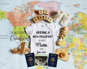 Travel Baby Announcement