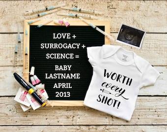Digital Pregnancy Announcement / girl gender reveal / letter board / message board