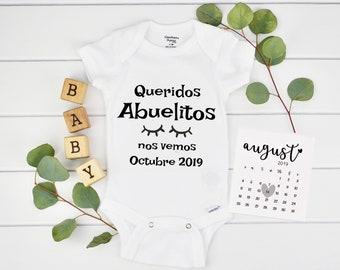 Baby Announcement Spanish / Pregnancy calendar /