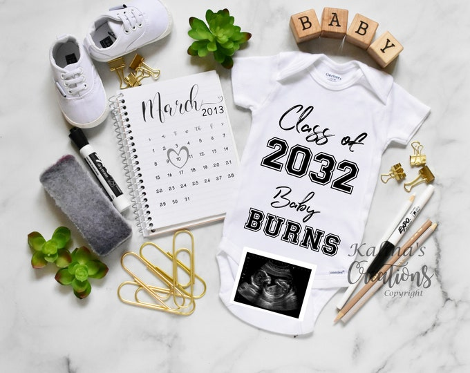 Back To School Baby Announcement - Printable OR Social Media
