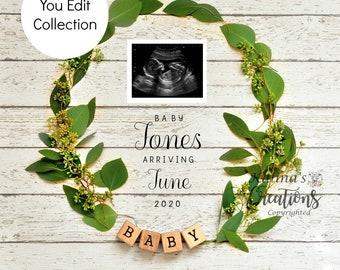 Simply White Pregnancy Template - Social Media Announce