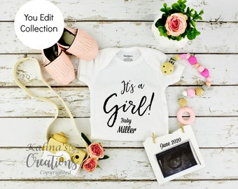 Babyl Girl Gender Reveal Social Media Announce