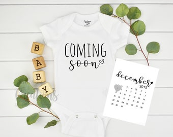 Coming Soon Pregnancy Announcement for New Grandparents