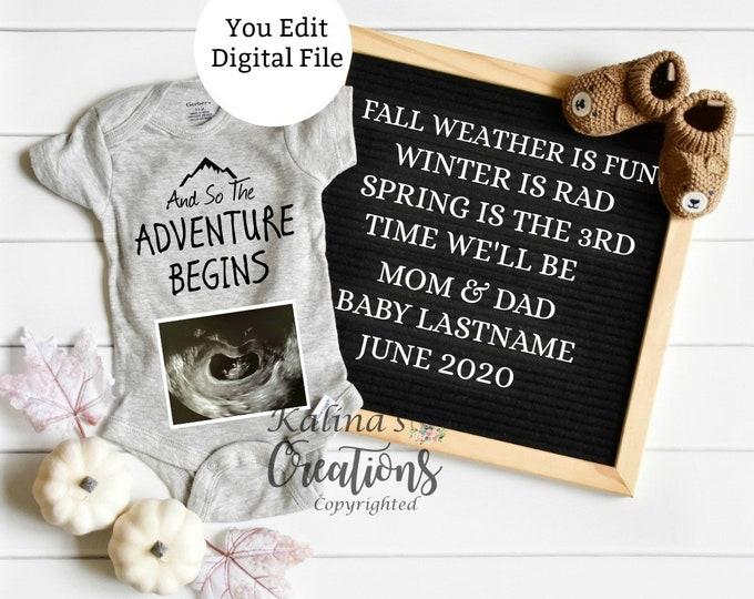 Fall Spring Pregnancy Announcement for Social Media Announce